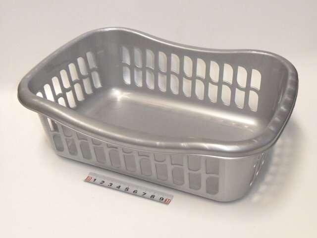 Košík brio - 29x20x10 - stříbrný