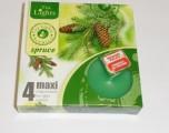 svíčka čajová Maxi 4ks aroma - Jehličí