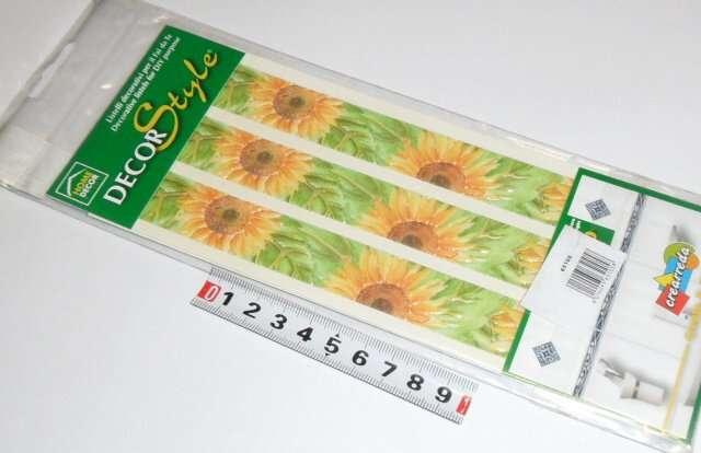 Samolepy dekor - slunečnice, úzké