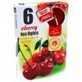svíčka čajová 6ks aroma - cherry