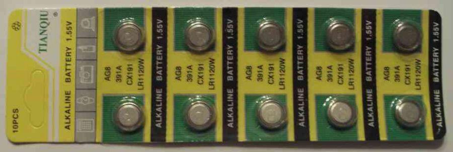 Baterie AG8 - 391 - LR1120 Noname