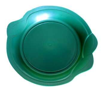 Podmiska zelená Ø16cm - ke květináči LAURA Ø8,5/12,5cm