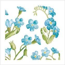 Samolepy dekor - sv. modrá kytka