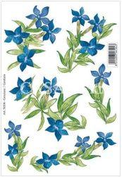 Samolepy dekor - tm. modrá kytka