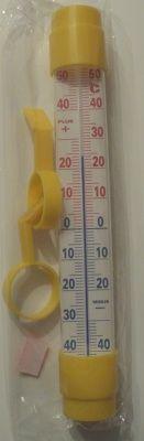 Teploměr 26x3cm žlutý