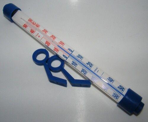 Teploměr o 26x3cm - modrý