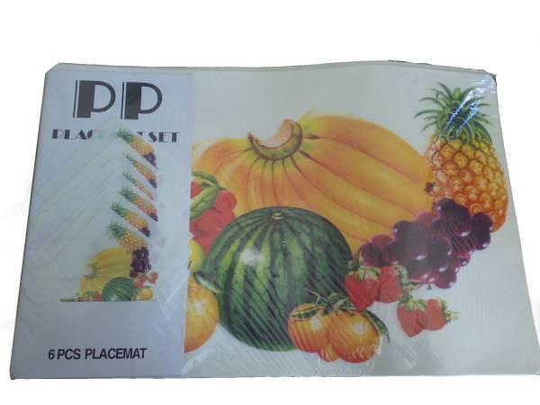 Prostírání 6+6 mix ovoce / 11263 Noname