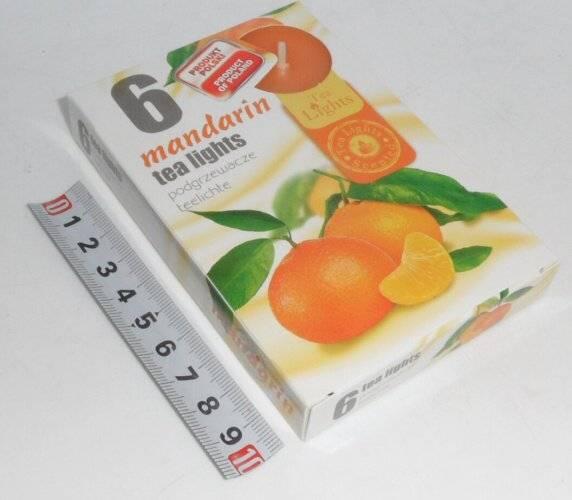 svíčka čajová 6ks aroma - Mandarinka ADMIT