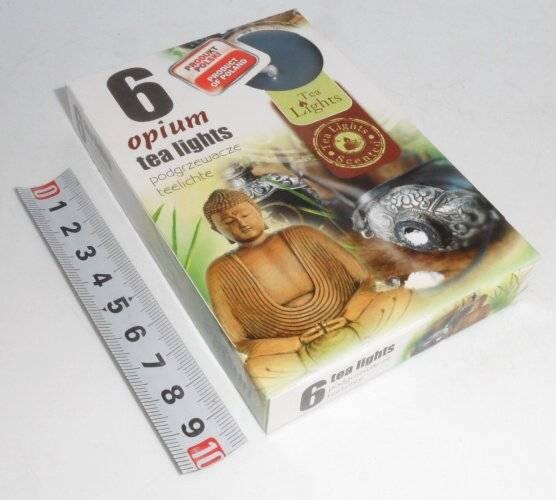 svíčka čajová 6ks aroma - Opium Admit