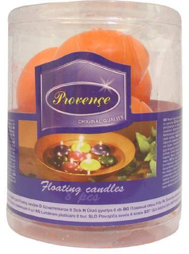 Svíčka plovoucí set 8ks oranž Provence