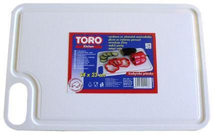 Kuchyňské prkénko plast, 34x23 oranžové Toro