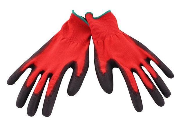 pracovní rukavice polomáčené v nitrilu červené M Toro