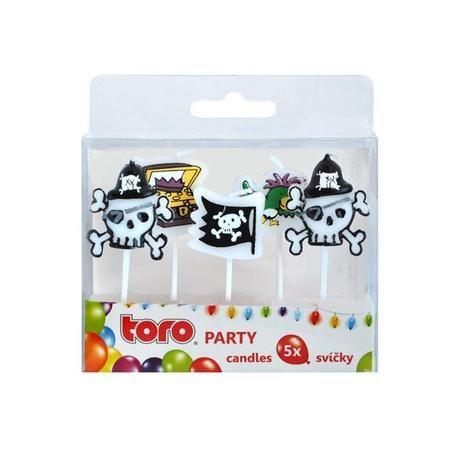Svíčka Party, Pirát, 5 ks Toro