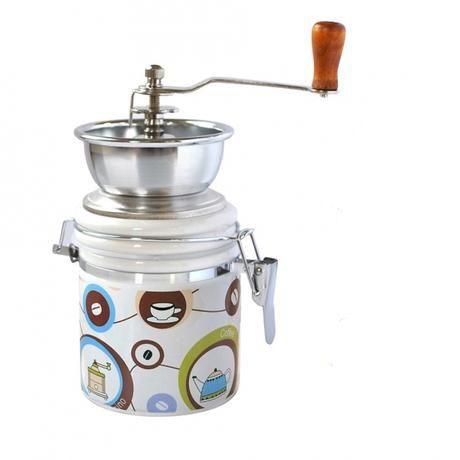 Mlýnek na kávu, porcelán nerez, motiv káva_2 Toro
