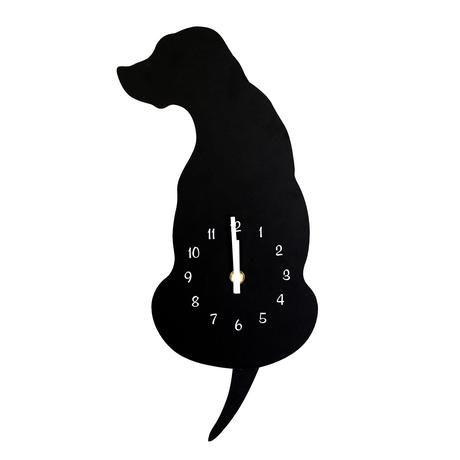 Nástěnné hodiny černý pes 40 cm Toro