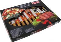 Nože set - steak 12ks - dřevo Toro