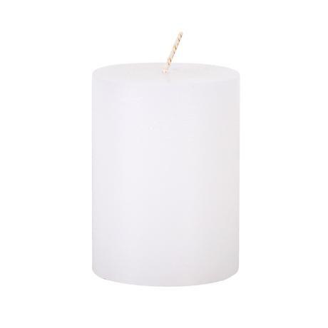 svíčka rustikální 10cm bílá Provence