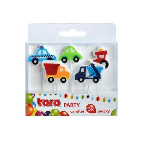 Svíčka Party, autíčko, 5 ks Toro