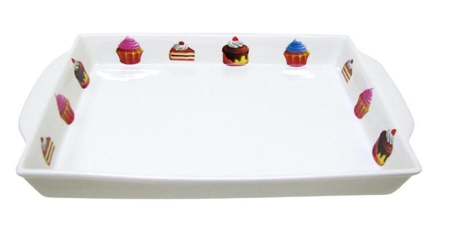 Tác obdélníkový s dekorem dortíky 27 cm Toro
