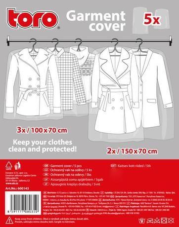 Toro Ochranný vak na oděv, 5 ks 600143