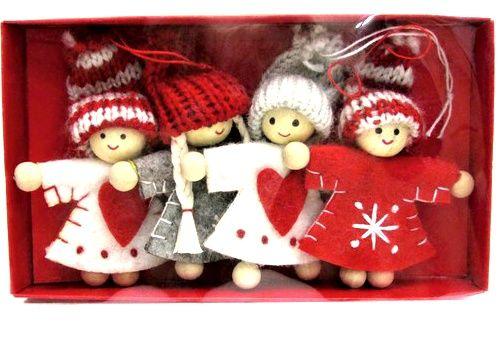 vánoční figurka 7cm 4ks Gerd