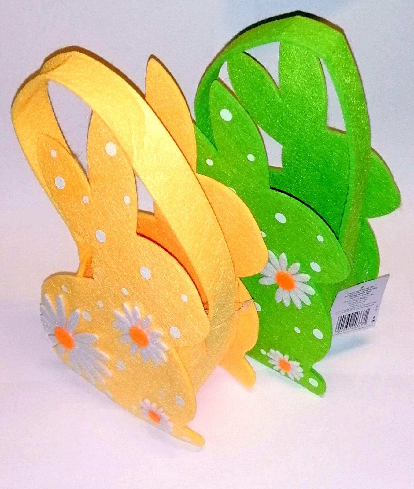 Velikonoční košík ve tvaru králíčka - žlutý Arpex