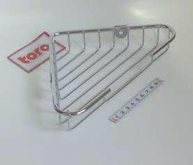 Chrom polička rohová 1p - výřez - 21,5x13,9x3,5cm Toro