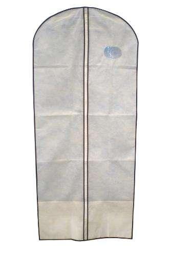Ochranný obal na oblek / šaty - béžový - 60x135 TORO