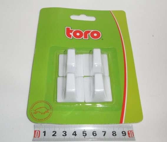 Háčky nalepovací 4ks - bílé Toro