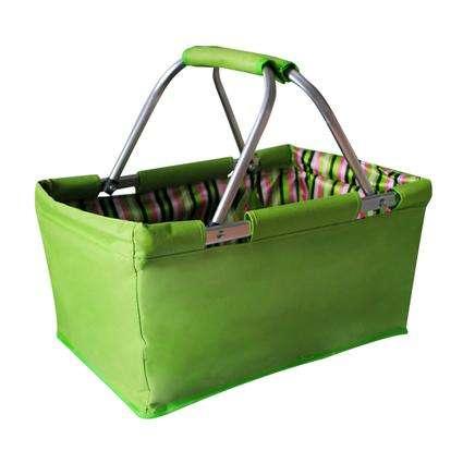 košík nákupní skládací 47 x 27 x 23 cm 29 L zelený Toro