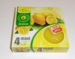 svíčka čajová Maxi 4ks aroma - citron