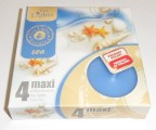 Admit svíčka čajová Maxi 4ks aroma - Oceán 602529