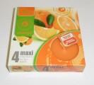 Admit svíčka čajová Maxi 4ks aroma - pomeranč 972802