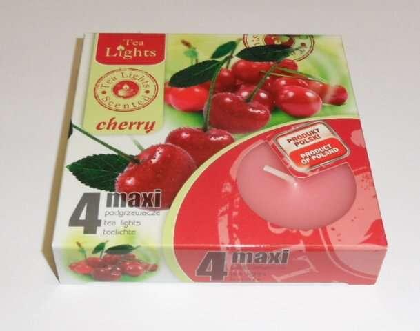svíčka čajová Maxi 4ks aroma - třešně Admit