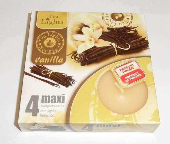 svíčka čajová Maxi 4ks aroma - Vanilka Admit