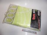 Toro Sprchový závěs 180x180 cm, zelený 263212svz