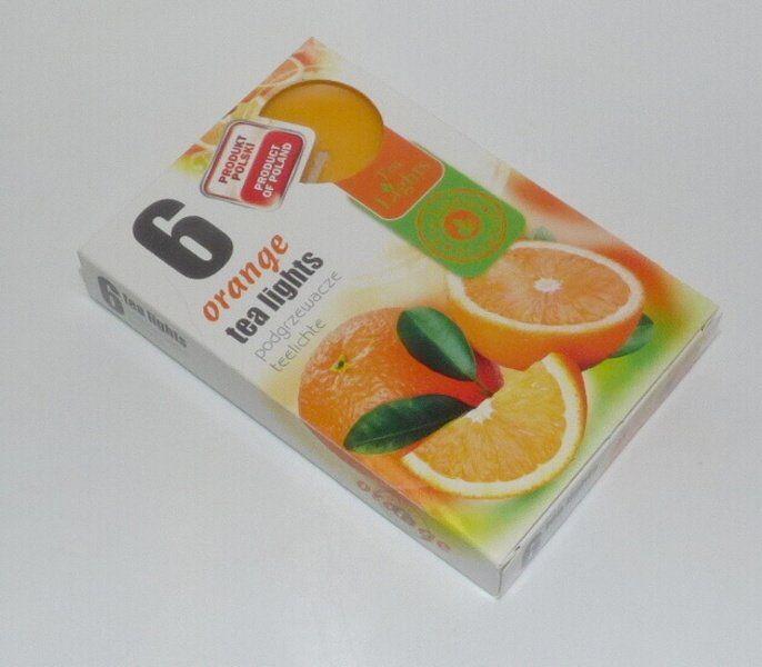 svíčka čajová 6ks aroma - pomeranč Admit