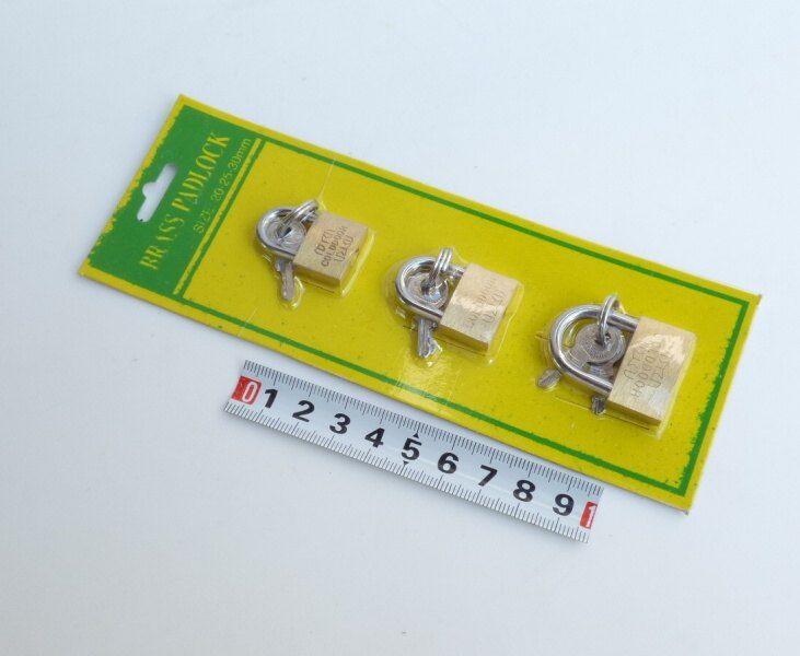 zámek mini 3ks 20/25/30mm China