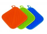 Toro Podložka pod hrnec, textil - silikon, 20x20cm, oranž 400124or