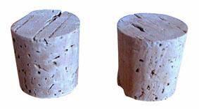Korkové zátky na lahve 35/40x40mm set 2ks Toro