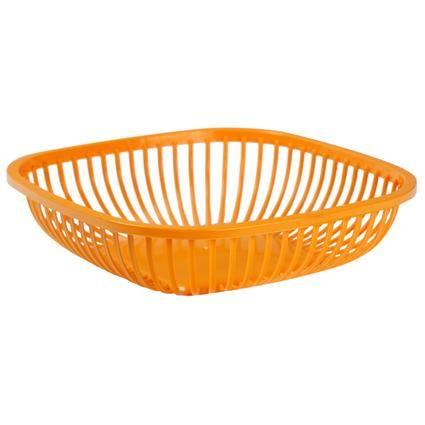 Košík na chléb - plast - 26x26x7 cm - oranž OKT