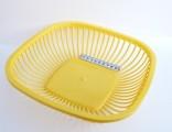 Košík na chléb - plast - 26x26x7 cm - žlutý