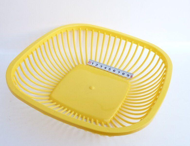 Košík na chléb - plast - 26x26x7 cm - žlutý OKT
