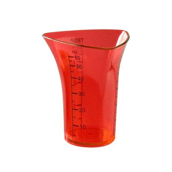 odměrka mini - plast 60ml - červená TORO