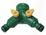 rozdvojka s ventily - plast