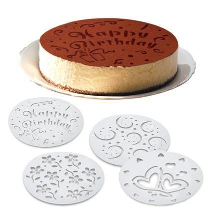 Šablony na zdobení dortů 20cm, 4 ks Toro