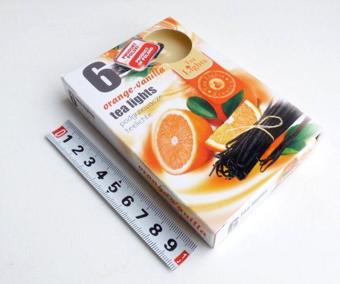 svíčka čajová 6ks aroma - pomeranč - vanilka Admit