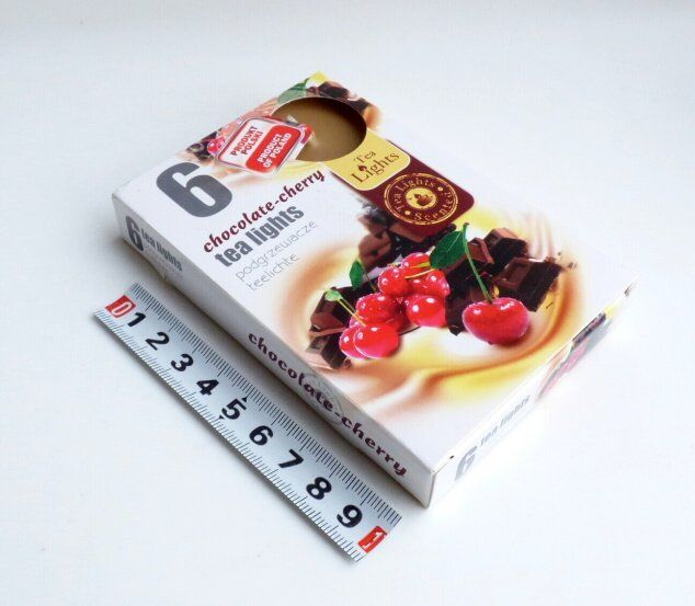 svíčka čajová 6ks aroma - třešeň - čokoláda Admit