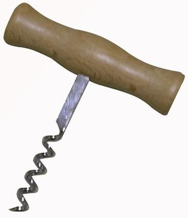 """Vývrtka """"T"""" otvírák dřevo - kov Toro"""