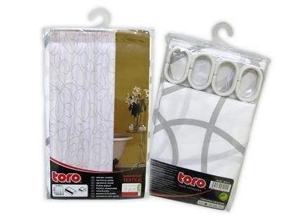 Sprchový závěs 180 x 180 cm bílá / šedá Toro